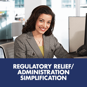 Regulatory Relief/Administration Simplification